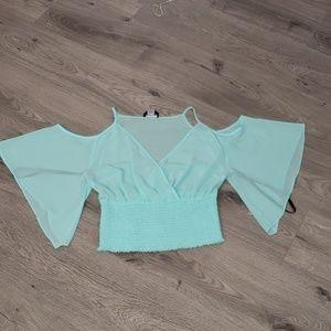 Bebe blue blouse